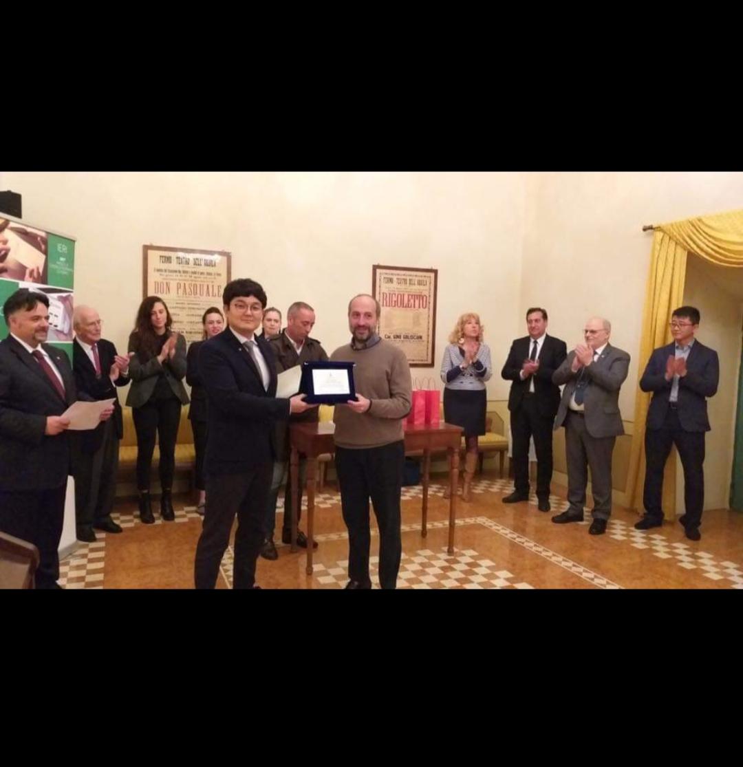 이탈리아 안드레아 포스타키니 국제 현악기 제작 콩쿨 1위,3위 및 특별상 시상식